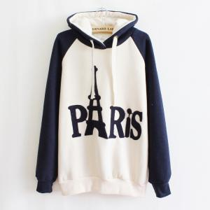 Embroidered Hooded Sweater Letters ..