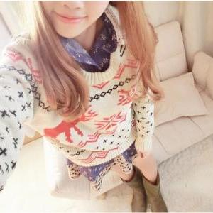 Fawn Christmas sleeved big yards sw..