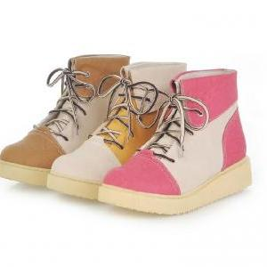 Spell color flat boots with thick s..