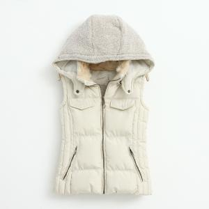 Knitting stitching Slim hooded cott..