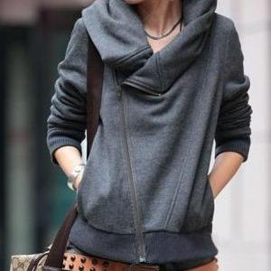 SLIM LONG-SLEEVED SWEATER COAT ABBJ..