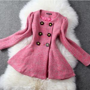 Temperament Slim long-haired coat A..