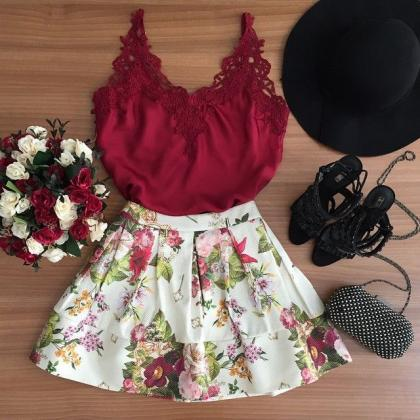 Fashion cute sleeveless two-piece K..
