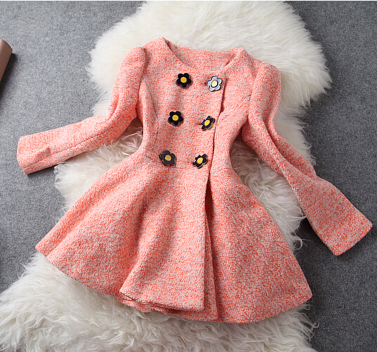 Temperament Slim long-haired coat AB830F