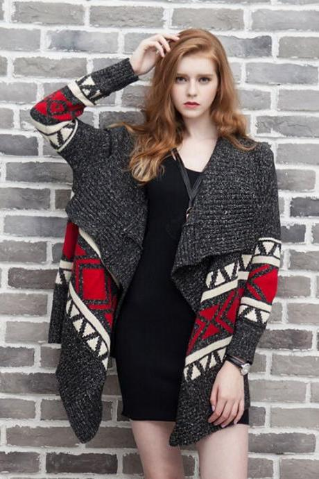Retro knitted wool cardigan 5016842